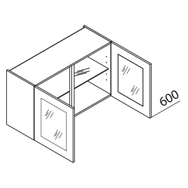 nolte k chen glas h ngeschrank hv120 60 g nstig kaufen. Black Bedroom Furniture Sets. Home Design Ideas