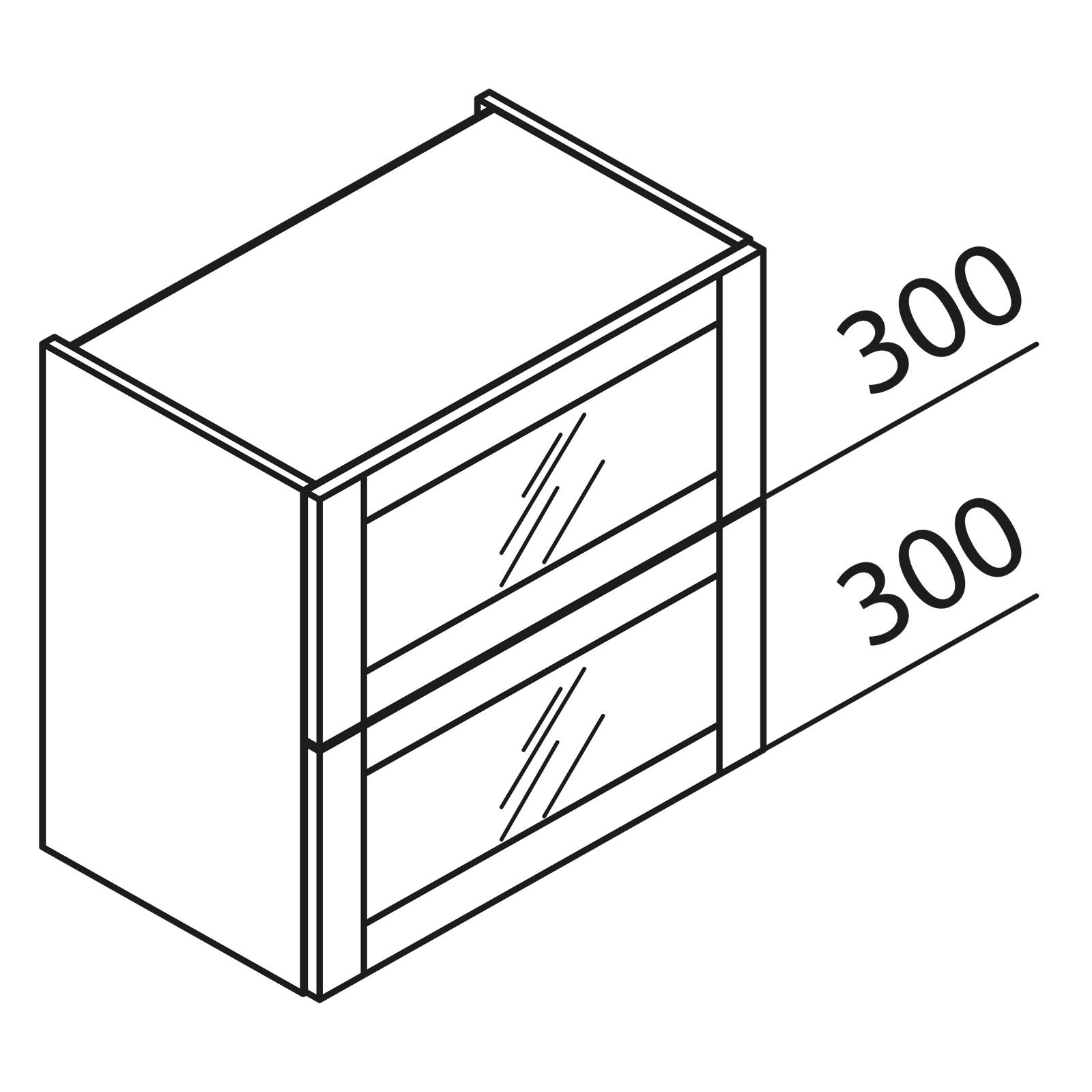 nolte k chen faltklappenschrank mit glas hfkv60 60. Black Bedroom Furniture Sets. Home Design Ideas