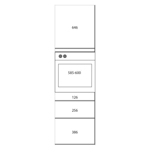 kitchenz k1 Geräteschrank DGO16-ESZ2