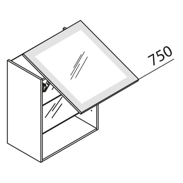 Schwebeklappenschrank mit Glas HLDF80-75