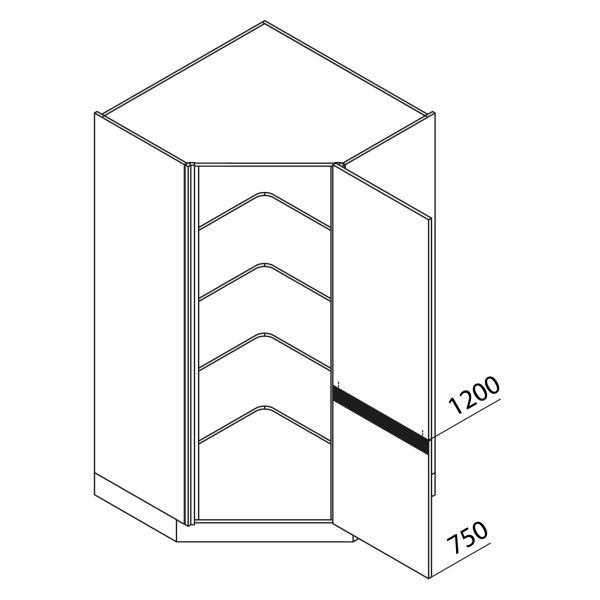 Nolte Küchen Hochschrank Eckschrank VED105-195