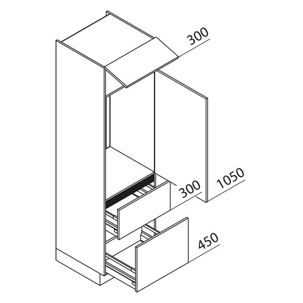 Nolte Küchen Hochschrank Geräteschrank GKZ210-103