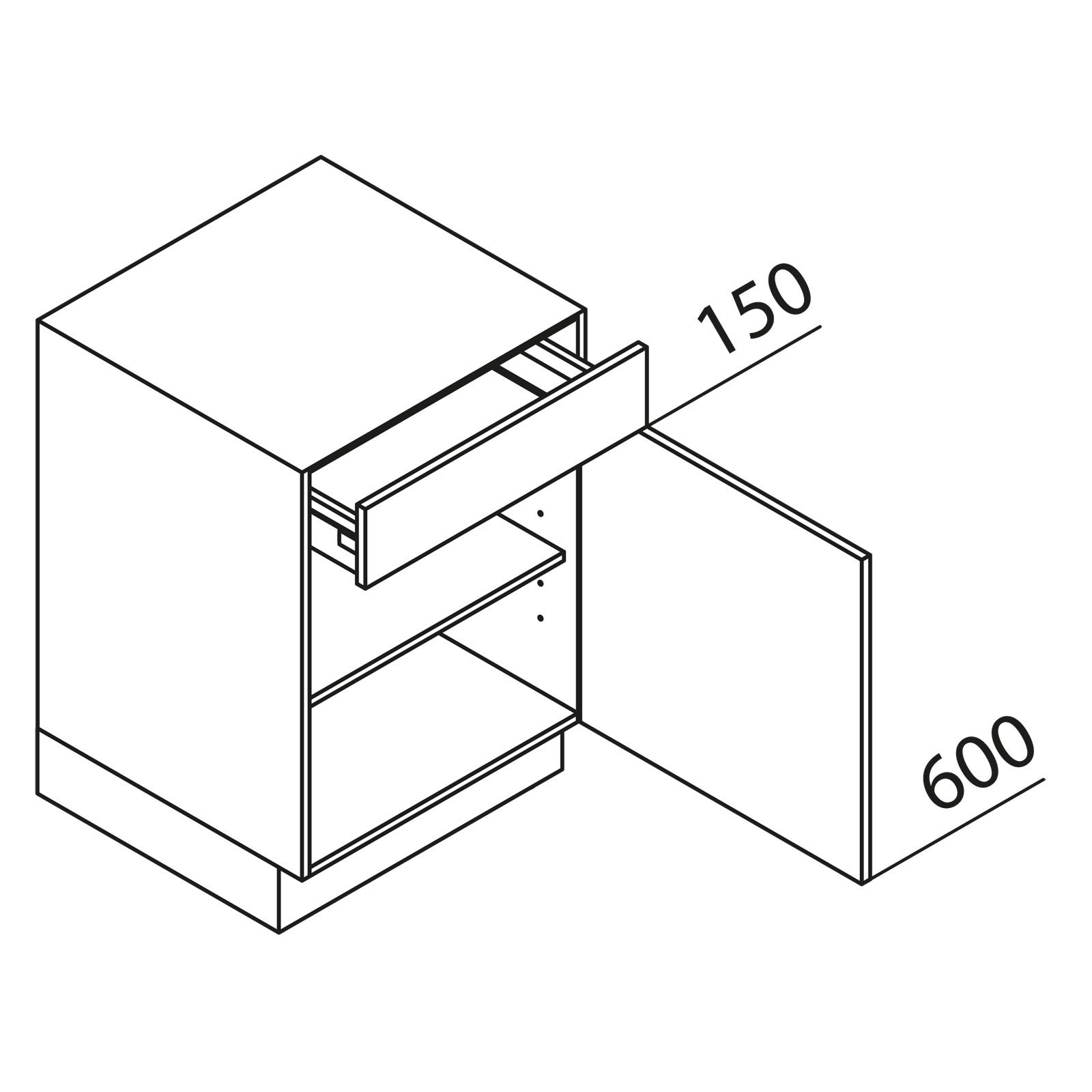 nolte k chen unterschrank u40. Black Bedroom Furniture Sets. Home Design Ideas