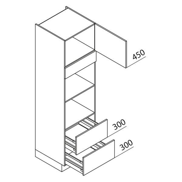 Nolte Küchen Hochschrank Geräteschrank GBBAZ210-2-2
