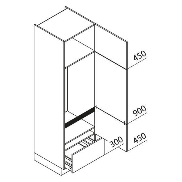 Nolte Küchen Hochschrank Geräteschrank GKA210-123-01