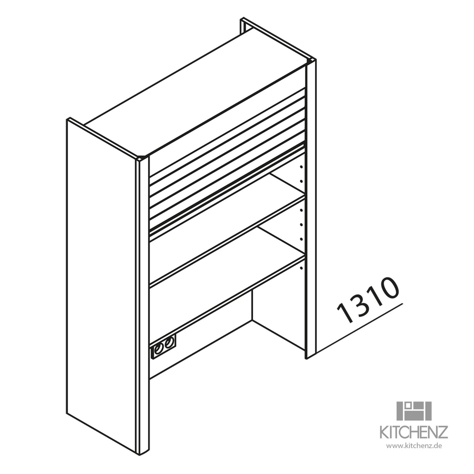 nolte k chen aufsatzschrank mit jalousie haj90 130 48. Black Bedroom Furniture Sets. Home Design Ideas