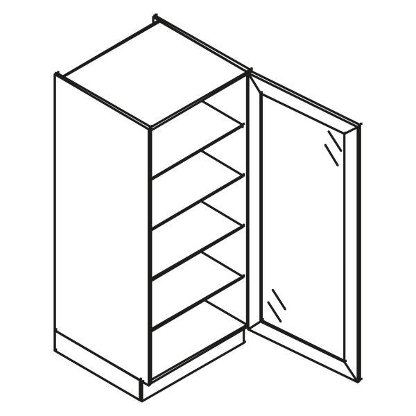kitchenz k1 Glas Hochschrank VGN10-050-SB