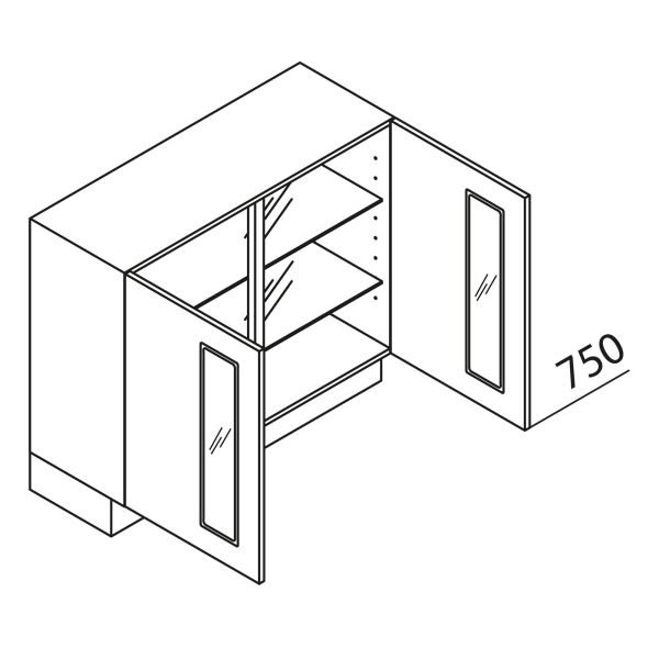 Nolte Küchen Unterschrank mit Glas UDDAG80-75-39