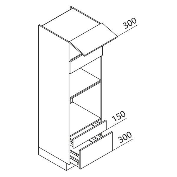 Nolte Küchen Hochschrank Geräteschrank GBBAS195-3-2