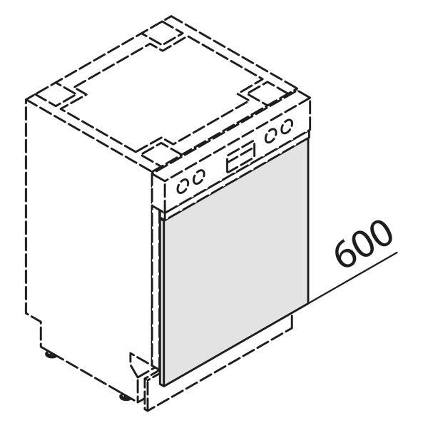 Türfront für Geschirrspüler GSB45