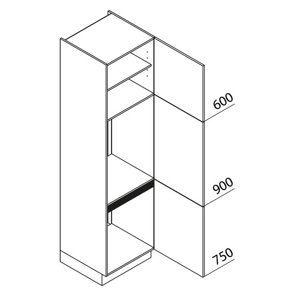 Nolte Küchen Hochschrank Geräteschrank GKK225-72-88