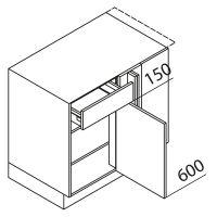 Nolte Küchen Unterschrank Eckschrank UEEA115-65MS