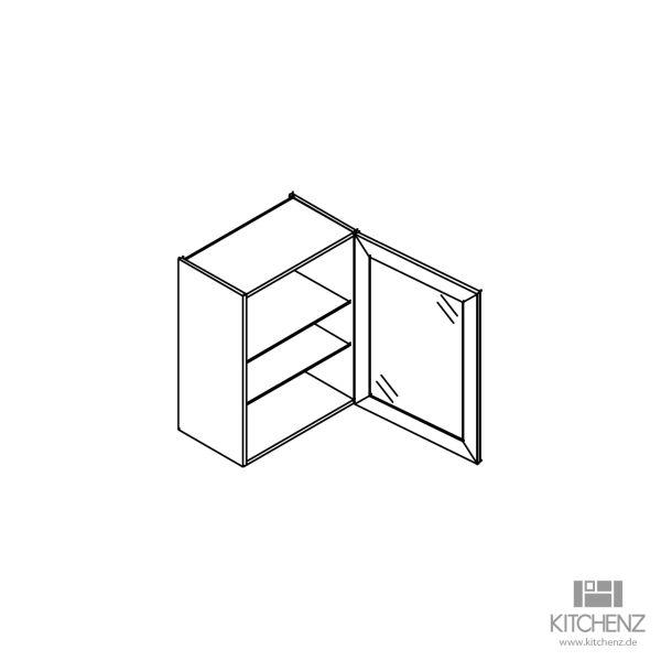 kitchenz k1 Glas Hängeschrank HGN6-060-XS