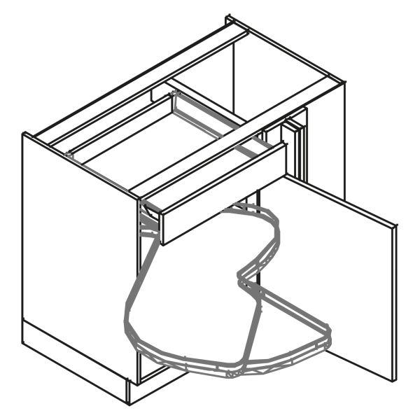 kitchenz k1 Eckschrank UE6-125SLMC-L