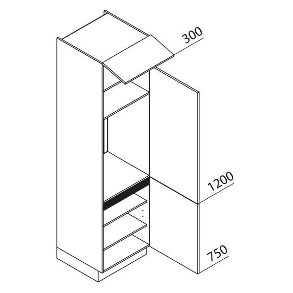 Nolte Küchen Hochschrank Geräteschrank GK225-88-09