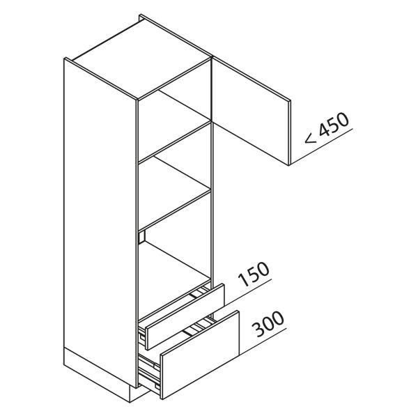 Nolte Küchen Hochschrank Geräteschrank GBBAS195-3-4