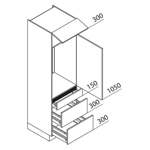 Nolte Küchen Hochschrank Geräteschrank GKAK210-103