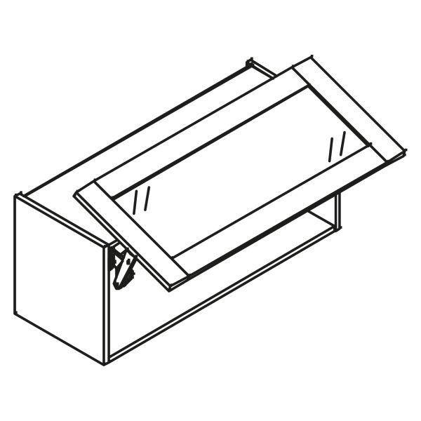 kitchenz k1 Glas Hängeschrank HGP3-100SL-GR