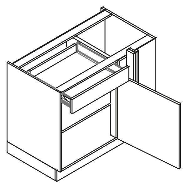 kitchenz k1 Eckschrank DUE6-105S-L