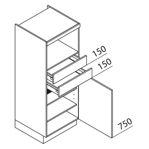 Nolte Küchen Hochschrank Geräteschrank GBS150-1