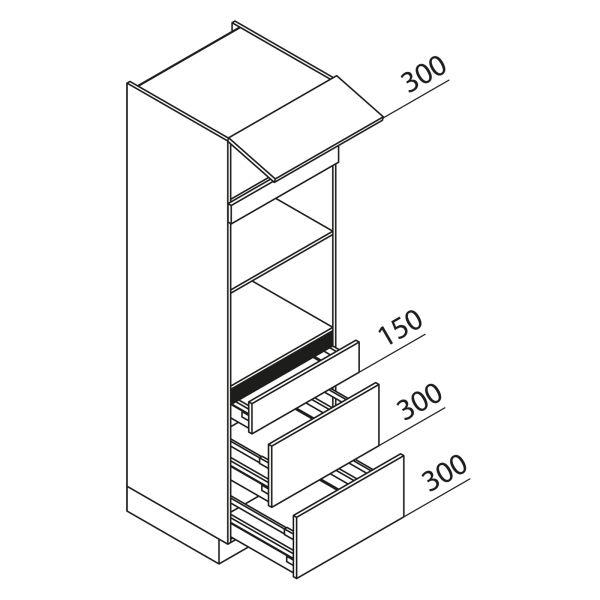 Nolte Küchen Hochschrank Geräteschrank GBBAK195-2-1