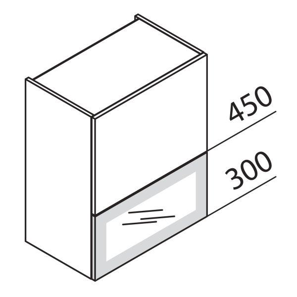 Faltklappenschrank mit Glas DS HFKDSPU90-75
