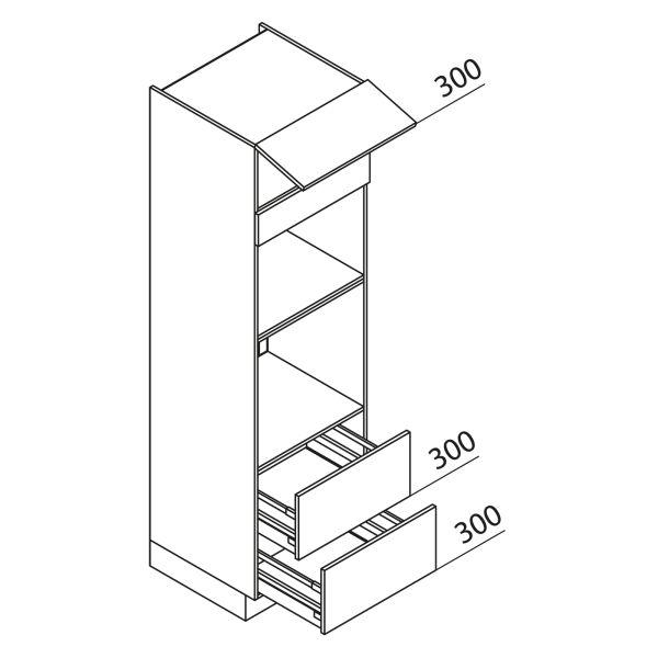 Nolte Küchen Hochschrank Geräteschrank GBBAZ210-3-2