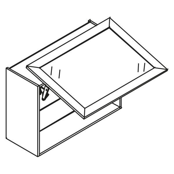 kitchenz k1 Glas Hängeschrank HGN5-080SL-XB
