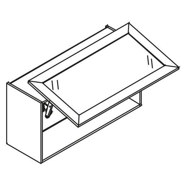 kitchenz k1 Glas Hängeschrank HGN4-120SL-SB