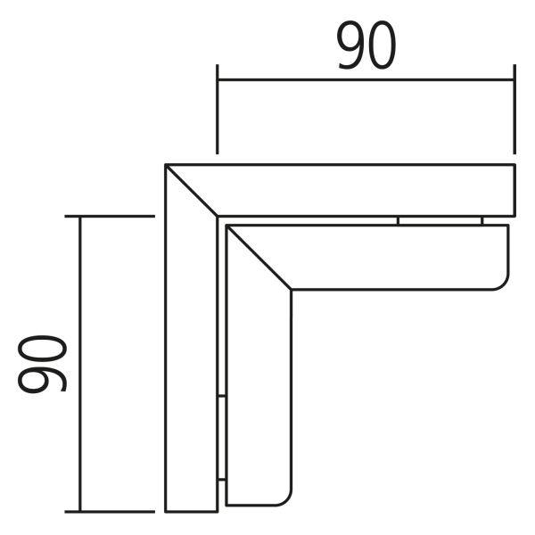 Nolte Küchen Hochschrank Eck-Passstück Frontbezogen SPE65-150