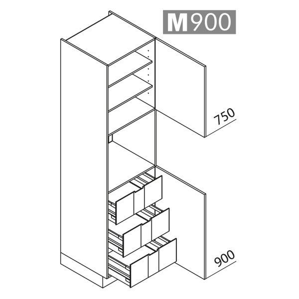 Nolte Küchen Hochschrank Geräteschrank GBI225-3-01