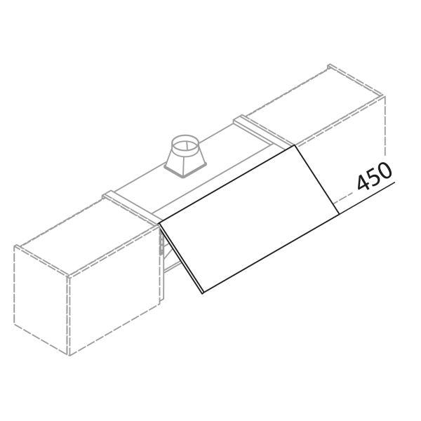 Frontblende für Dunstabzug HWB100-45-INT