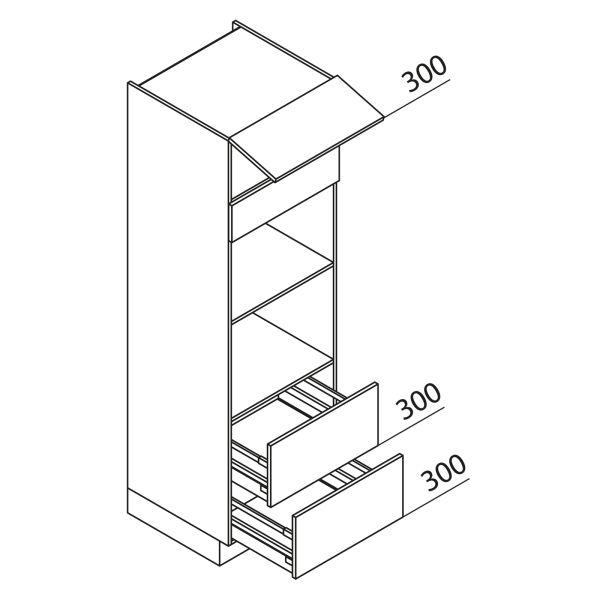 Nolte Küchen Hochschrank Geräteschrank GBBAZ195-2-2