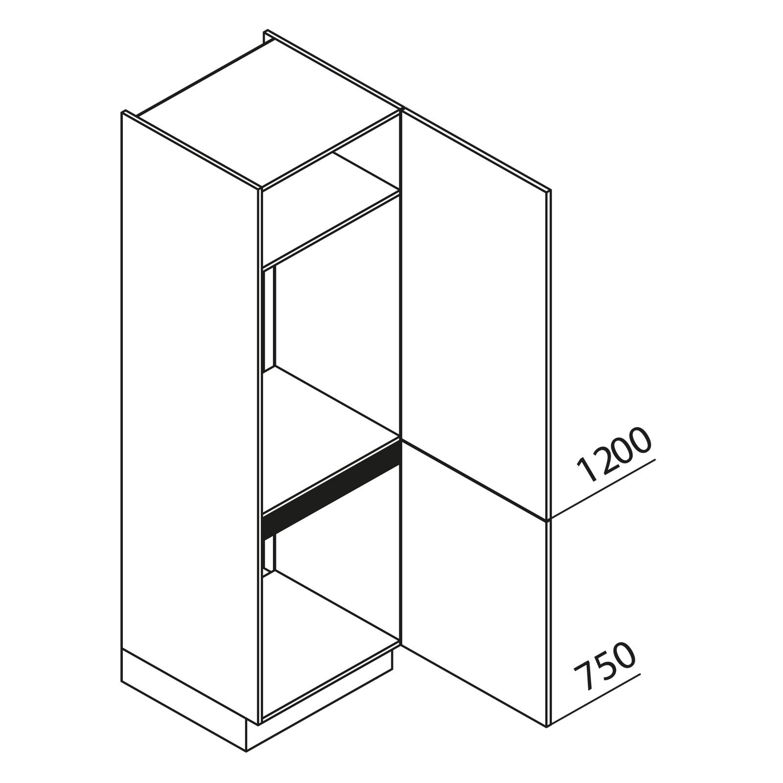 nolte k chen hochschrank ger teschrank gkk195 72 88 09. Black Bedroom Furniture Sets. Home Design Ideas