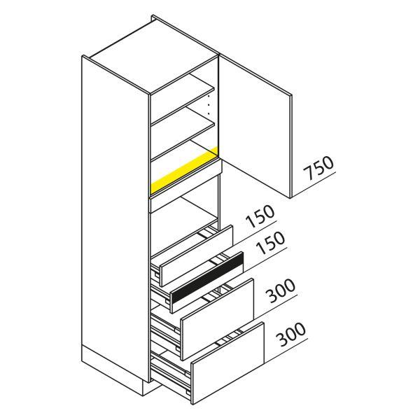 Nolte Küchen Hochschrank Geräteschrank GBAK210-1