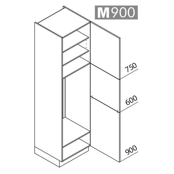 Nolte Küchen Hochschrank Geräteschrank GKG225-123