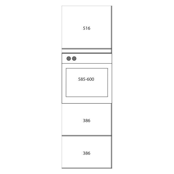 kitchenz k1 Geräteschrank DGO15-EZ2