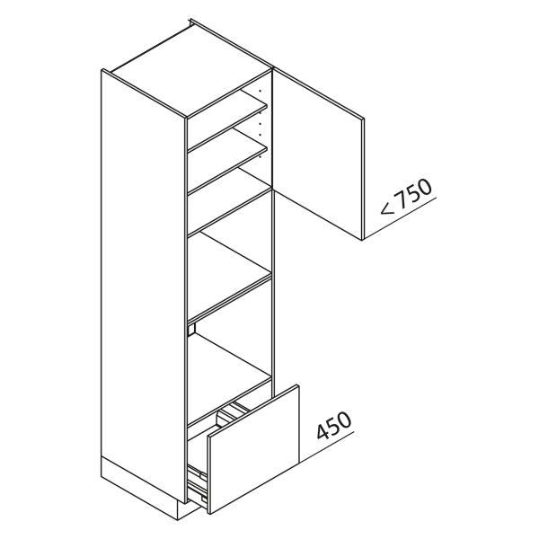 Nolte Küchen Hochschrank Geräteschrank GBBA225-3-4-01