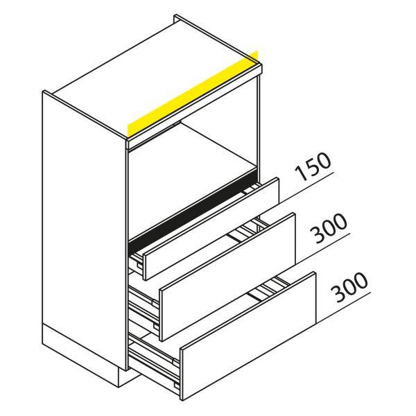 Nolte Küchen Hochschrank Geräteschrank GBAK90-135-2