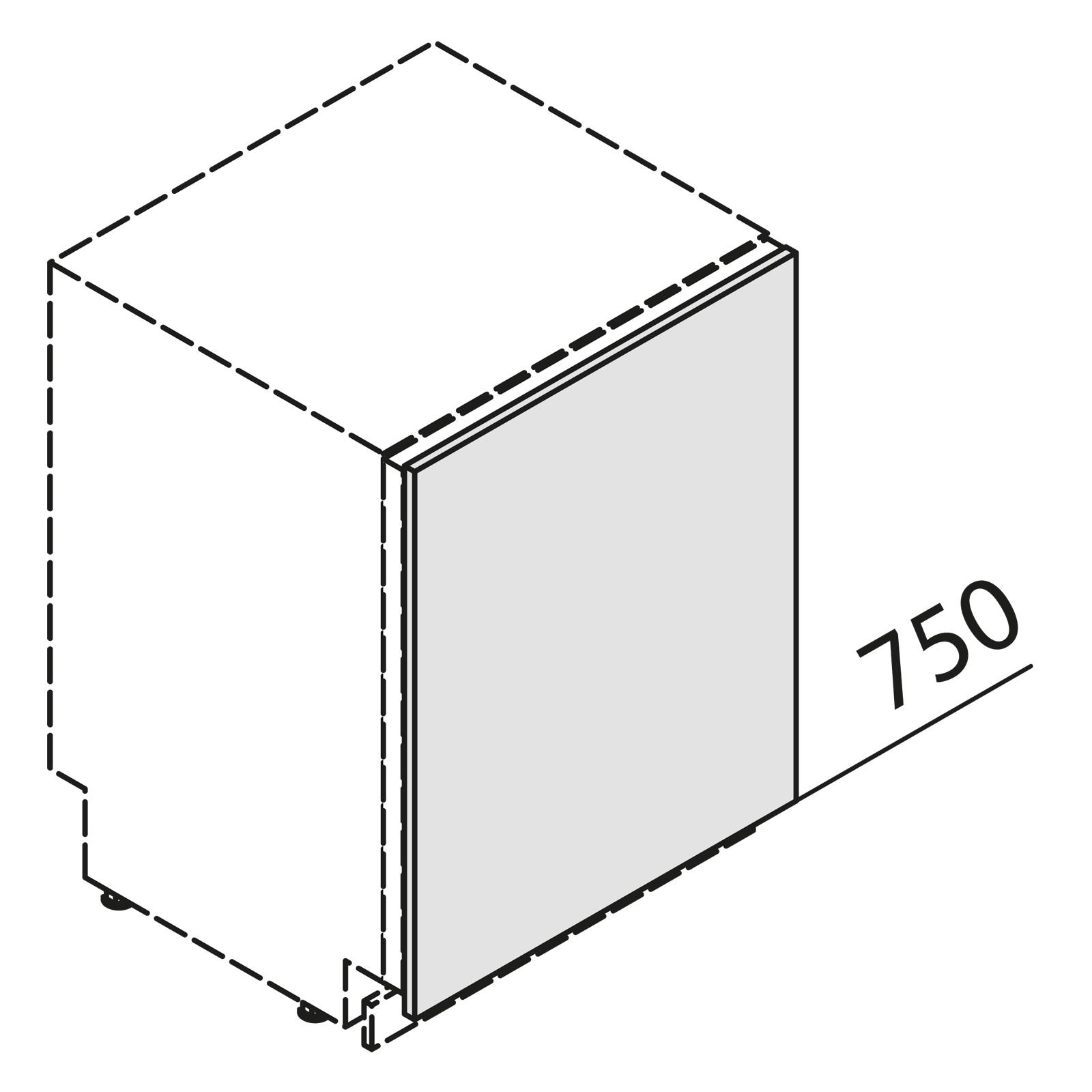 nolte k chen t rfront f r geschirrsp ler ksbd45. Black Bedroom Furniture Sets. Home Design Ideas