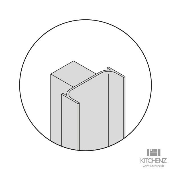 Nolte Küchen Vertikale Griffmulde C-Profil YP-C-210