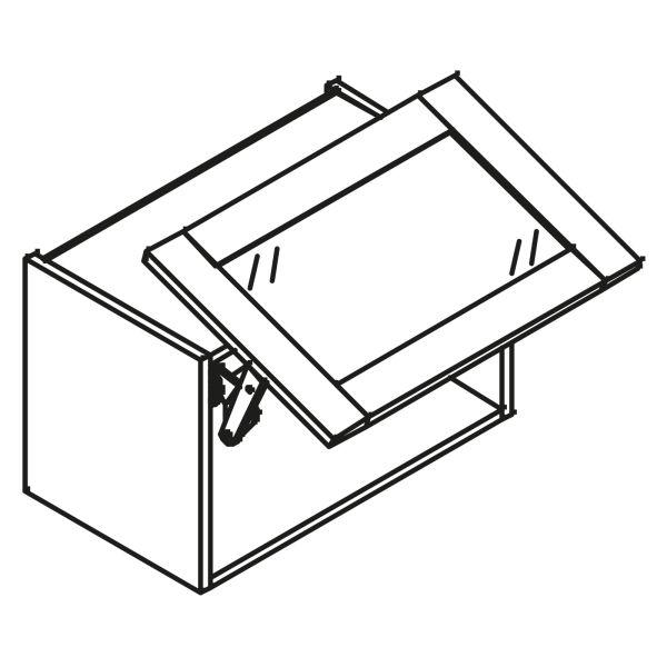 kitchenz k1 Glas Hängeschrank HGP3-045SL-GR