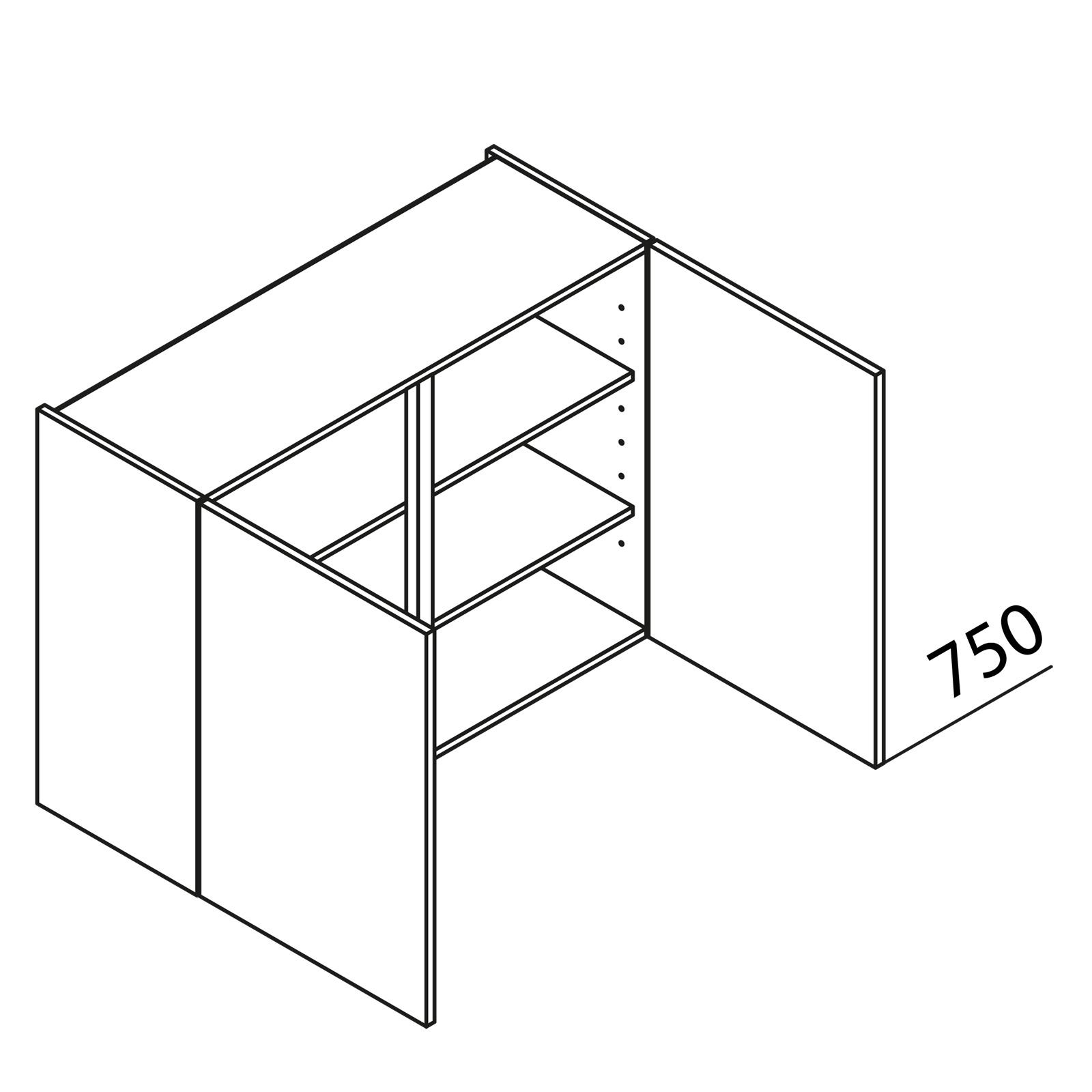 nolte k chen h ngeschrank h80 75. Black Bedroom Furniture Sets. Home Design Ideas