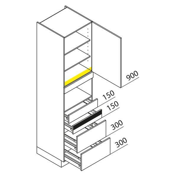 Nolte Küchen Hochschrank Geräteschrank GBAK225-1