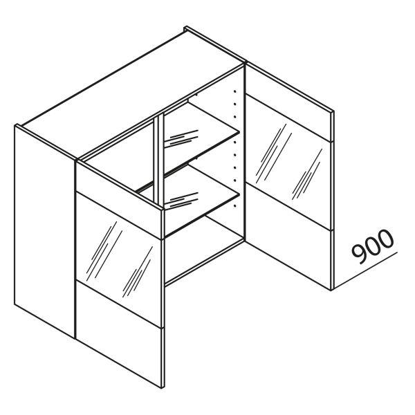 nolte k chen glas h ngeschrank hvq80 90 g nstig kaufen. Black Bedroom Furniture Sets. Home Design Ideas