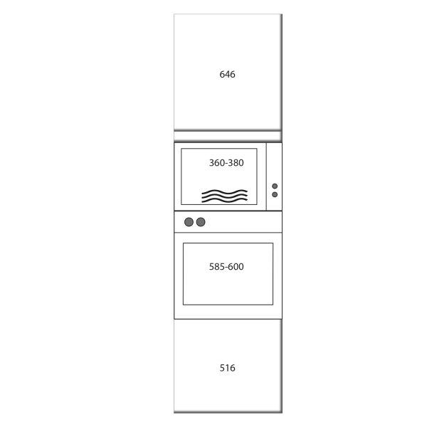 kitchenz k1 Geräteschrank GO17-ME-1