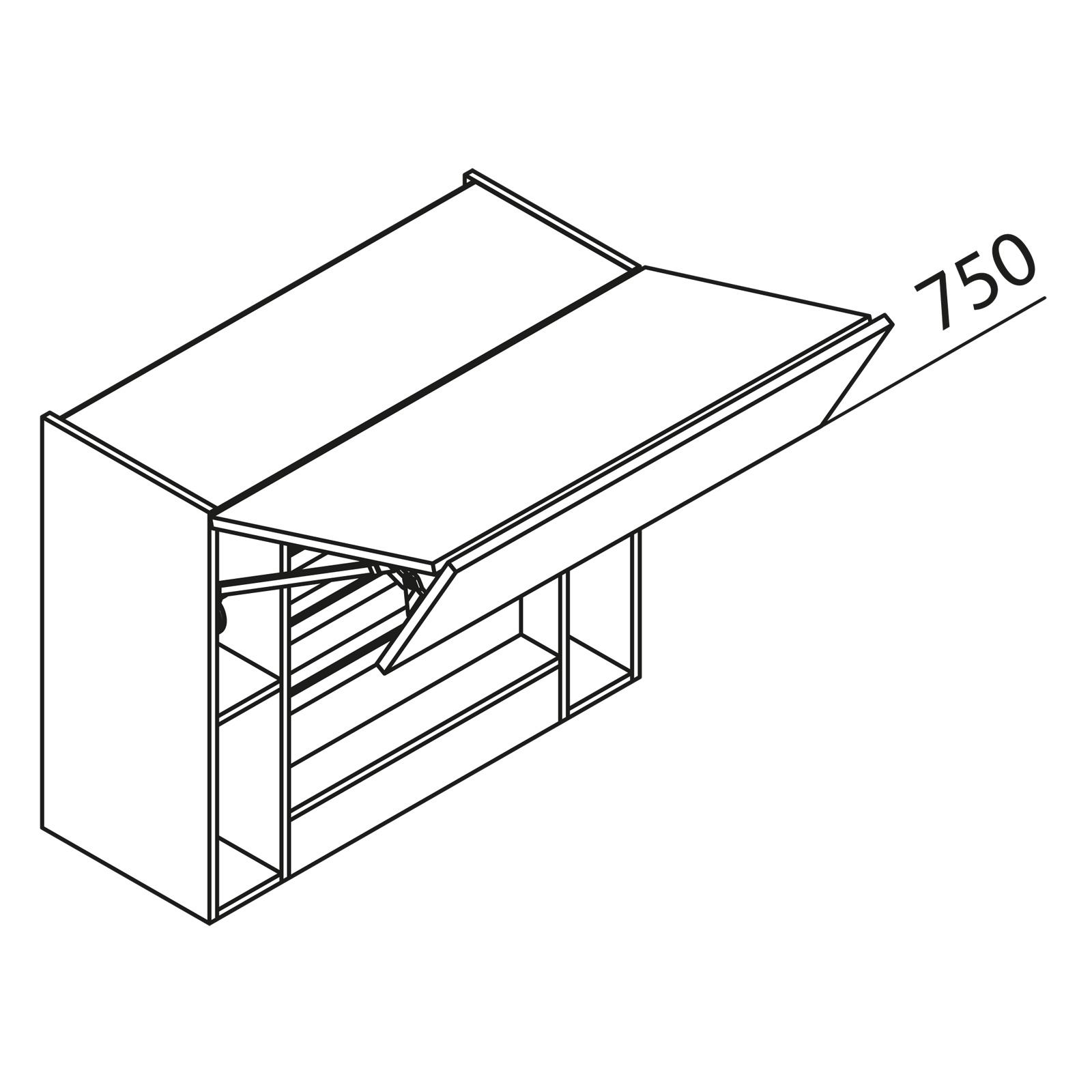 nolte k chen h ngeschrank f r dunstabzug hwufk80 75. Black Bedroom Furniture Sets. Home Design Ideas