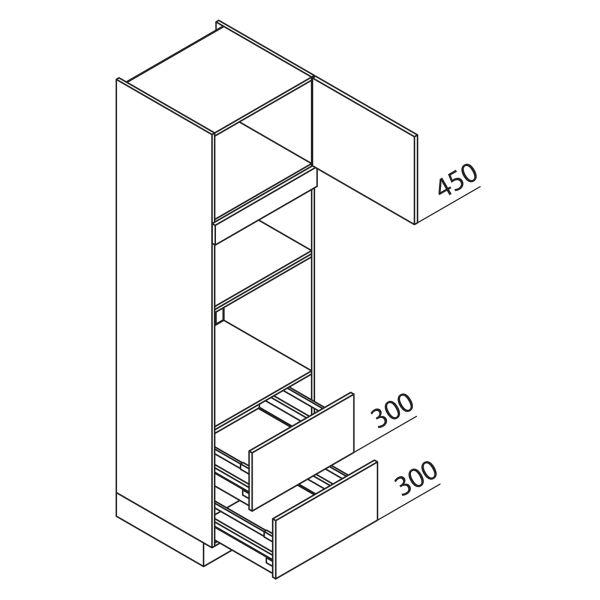 Nolte Küchen Hochschrank Geräteschrank GBBAZ210-3-1