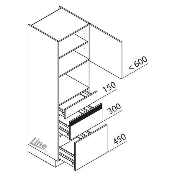 Nolte Küchen Hochschrank Geräteschrank GBZ195-4